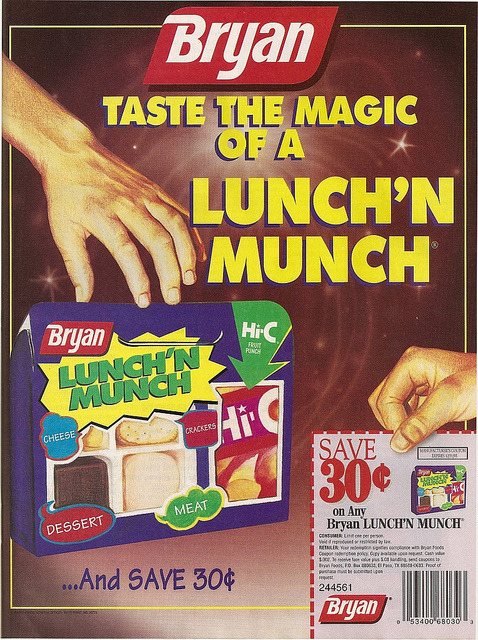 Lunch'n Munch (1995) Sorry your parents didn't love you enough to buy you Lunchables! [Flickr]