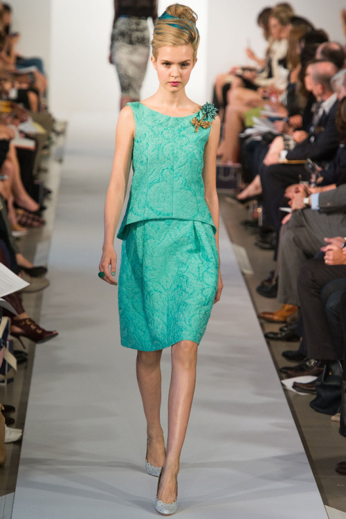 60's style top and skirt from Oscar De La Renta S/S 13