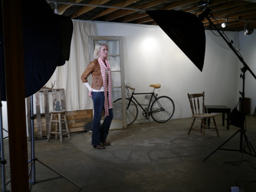 Behind the scenes pic from the photo shoot for the G&FC Fall line of scarves. They will be available for sale on our site and for wholesale purchase next week!
