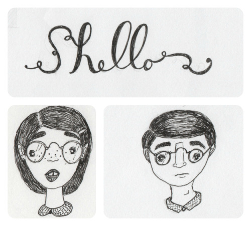 Illustration Friday || Sniffles & Glasses
