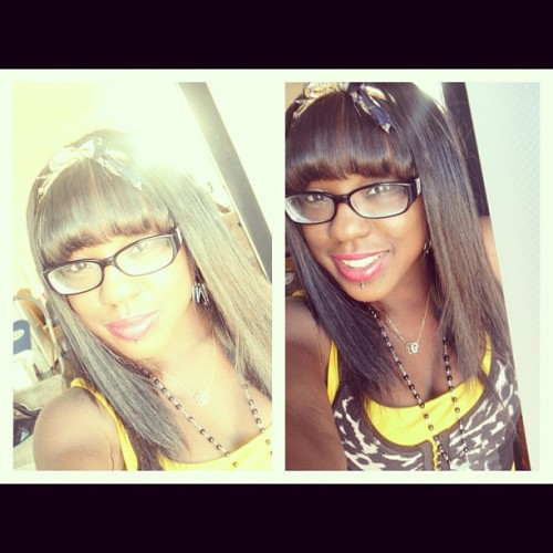 meloriouss:  Love life. #piercing #girl #glasses #love #life #brownskin #happy #bow (Taken with Instagram)
