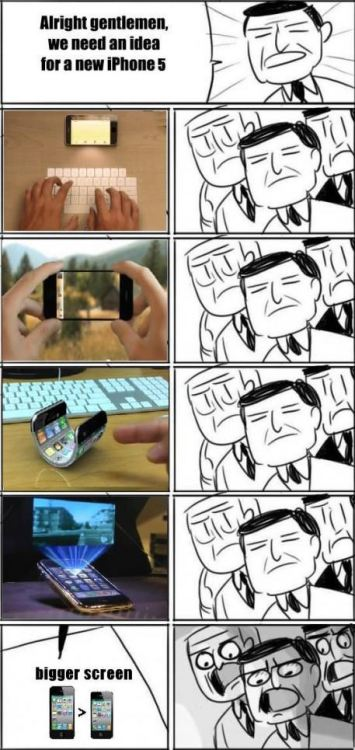 thefuuuucomics:  The new iPhone 5…