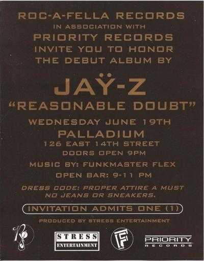 upnorthtrips:  Reasonable Doubt Release Party - Palladium, NYC (6/19/96)