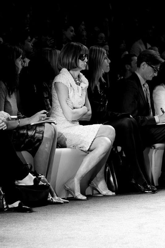 Anna Wintour The Queen B @ Vera Wang Spring 2013