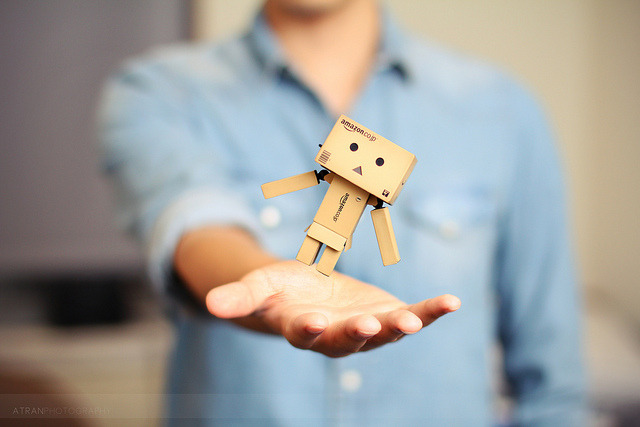 Floating Fridays: Danbo on Flickr.Via Flickr: Almost forgot it was Floating Friday! Here's a shot of something that was sitting on my desk: Danbo! Sorry if my series hasn't been interesting lately, I'm in school trying to juggle 3492304 different things and there's not enough time in the day. I will try harder next time!