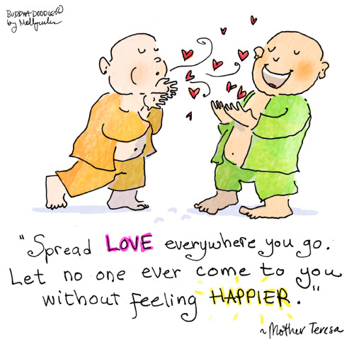 Buddha Doodle - 'Spread Love'by Mollycules♥ please share ♥