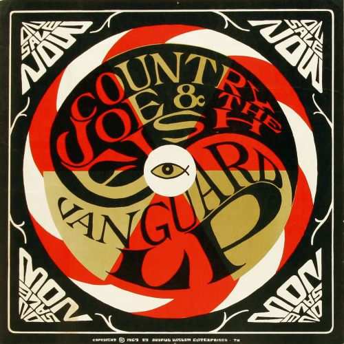 psychedelic-sixties:  Country Joe And The Fish Vanguard Records promo poster (1967)