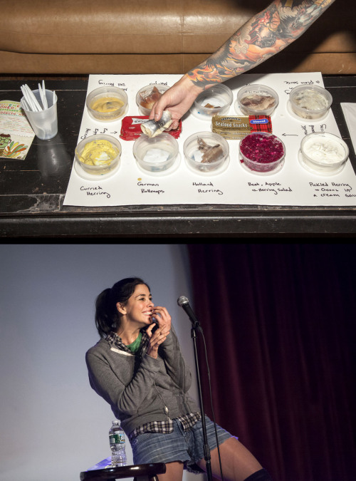 davidandrako:  VIP Herring Bar + Sarah Silverman - The Eugene Mirman Comedy Festival - The Bell House - Brooklyn - 09/13/12 Photos by David Andrako