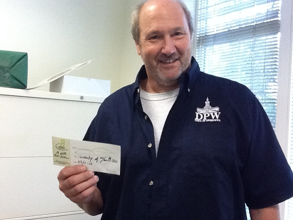 Congrats Rob!  Enjoy your gift card to Bruckner's.