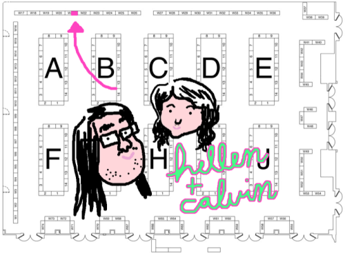 "Me and Hellen will be at SPX this weekend, Table w21b!! Come by and buy shit. I will be selling Ramble On 1 and Ignatz nominated Ramble On 2. You can read the whole thing here http://calwong.org/ro2/ro2.html   As well as her older stuff, 2009 Ignatz nominated cartoonist Hellen Jo will have a new mini zine, ""Last Letter"" that she is frantically working on right now in the glamorous north Bethesda Popeye's.   Cal ""ignatz nominated"" Wong"