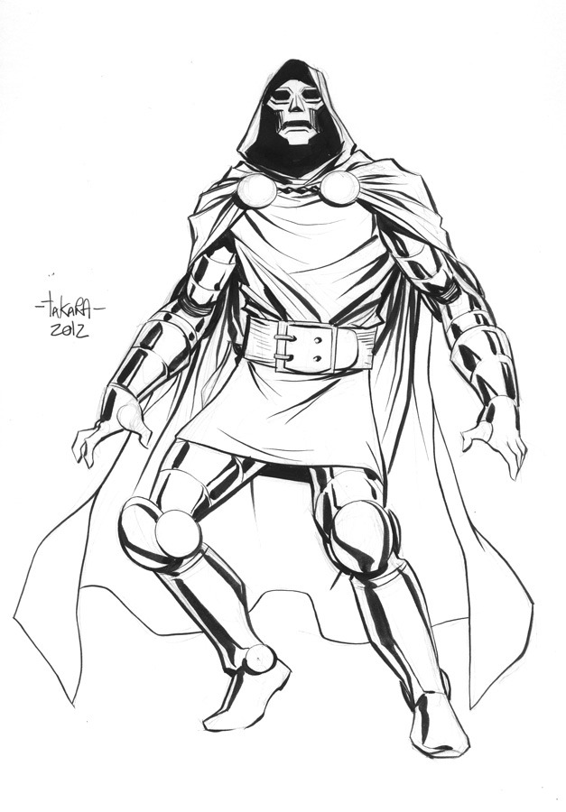 mtakara:  pre-NYCC sketch - Doctor Doom by *marciotakara