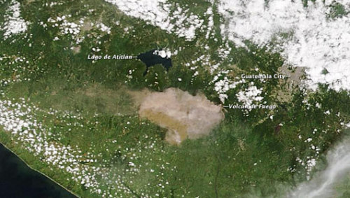 mothernaturenetwork:  NASA offers bird's-eye view of Guatemala volcanoThis is the second large eruption for Fuego this year, and likely the biggest in a decade.