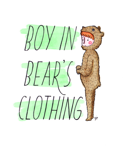 vforviu:  Boy in bear's clothing