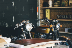 themadeshop:  Twin CB750s — Mine and Adam's