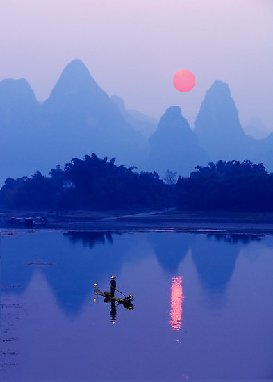 "t-a-h-i-t-i:  ""LI RIVER SUNSET - CHINA"" by Michael Sheridan"