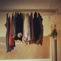thatkindofwoman:  When I hang my fall essentials on the ceiling pipes in my bedroom.