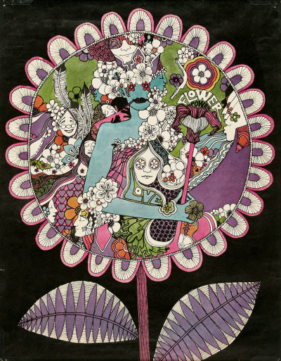 psychedelic-sixties:  Flower Power (1967) Art Ivan Ripley