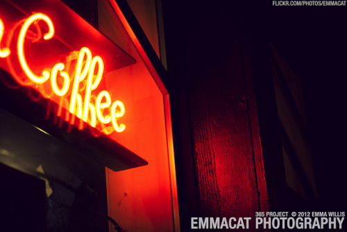 Coffee Sign - 160/365 on Flickr.Via Flickr: Sorry I am late on editing and posting these, but I am still taking photos for this project every day! Coffee shop neon sign