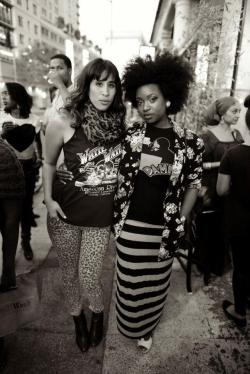 oakstreetstyle:  Oakland Girls at the Oak Street Style blog launch party @ Owl N Wood boutique in Oakland photo by Fred Shavies