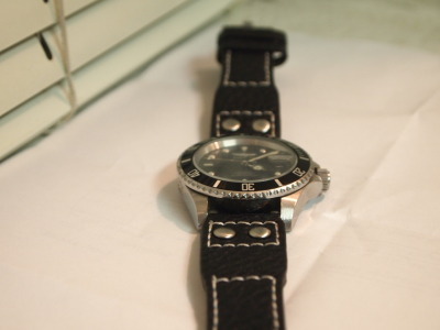 champagnedreamsandrandomthings:  My IWC Big Pilot Black Buffalo Skin watch strap finally came. Looks and feels amazing!