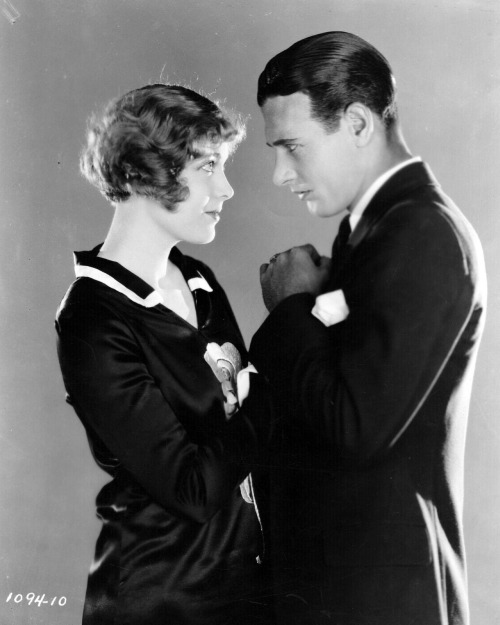 Esther Ralston and Richard Arlen lock eyes in a promotional still for A Edward Sutherland's Figures Don't Lie, 1927