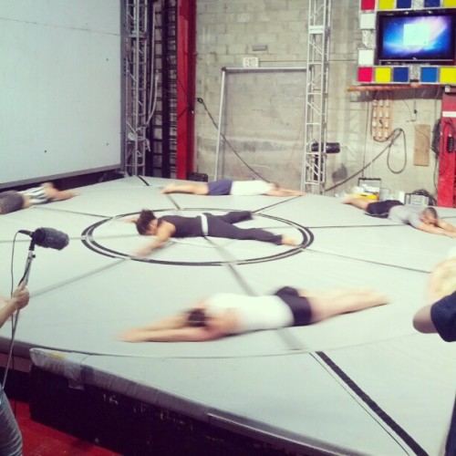 Rehearsal at Steb Lab for Action Mechanics (streb.org) (Taken with Instagram)