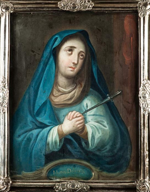 allaboutmary:  Mater Dolorosa Today is the feast of Our Lady of Sorrows. Devotion to Mary's sorrows dates back to the high Middle Ages, when popular piety began to focus on the sufferings of Christ and his Mother.  Traditionally Mary's sorrows were commemorated on two different feasts: on the Friday of Passion Week and on 15 September. In 1969 the first feast was taken off the calendar of the Catholic Church, so now only today's feast remains.