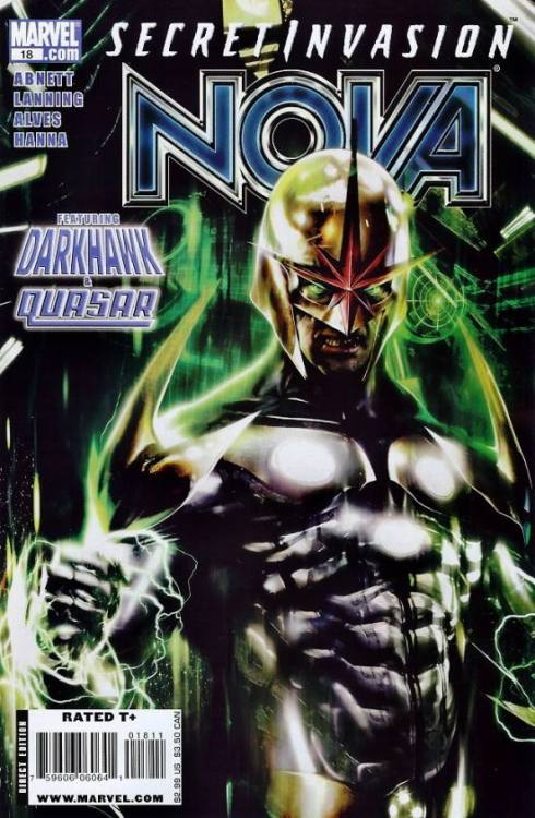 Nova v4 #18, December 2008, written by Dan Abnett and Andy Lanning, penciled by Wellinton Alves and Geraldo Burges