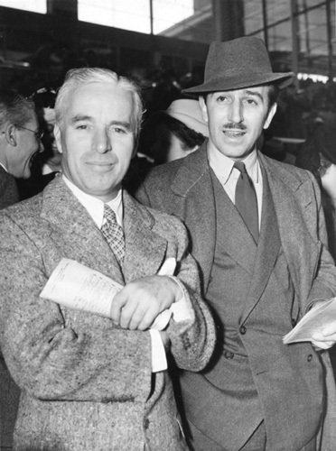 nerdyturtles:  Walt Disney and Charles Chaplin