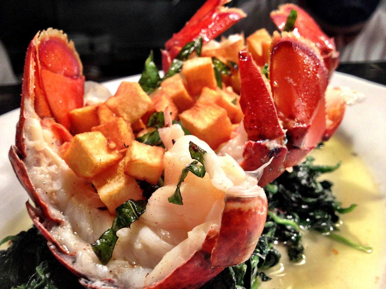 Featured Dish:  Steamed Lobster Tails, $43