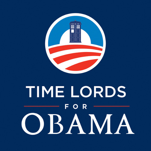 "barackobama:  What's Gallifreyan for ""Yes we can""?"