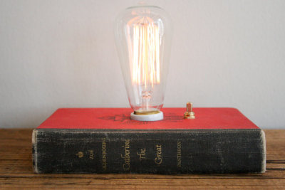 """Catherine the Great"" Book Lamp by TypewriterBoneyard"