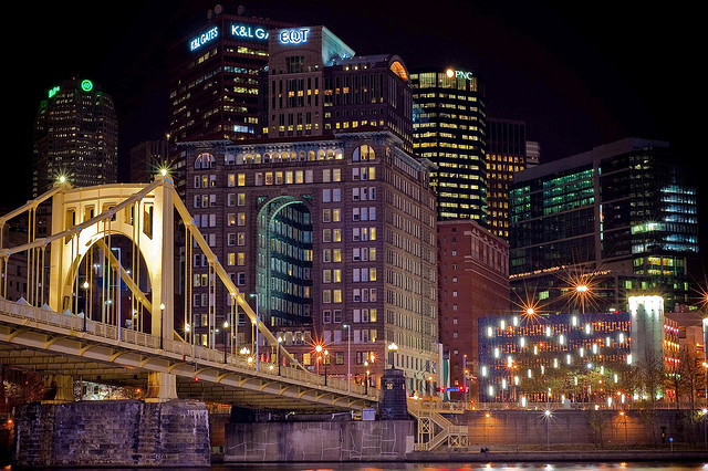 Pittsburgh on Flickr.Via Flickr: 6th Street Bridge: Downtown Pittsburgh