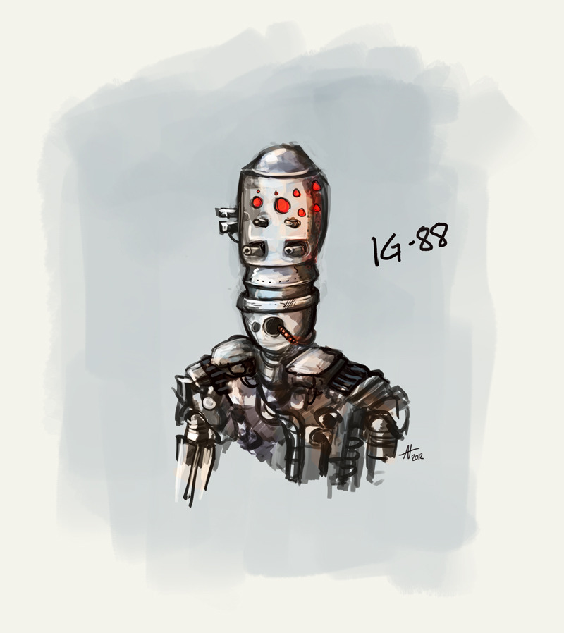 IG-88.  Old-school Star Wars characters ftw! Especially those that are just background but designed to be awesome if they had not.