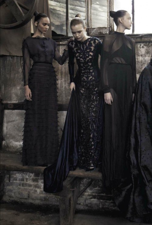 """Valentino Haute Couture F/W 2012"" photographed by Deborah Turbeville for Vogue Italia September 2012"