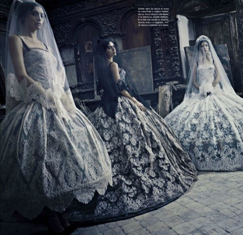 """Alta Moda: Dolce & Gabbana, una storia italiana"" photographed by Paolo Roversi for Vogue Italia September 2012"