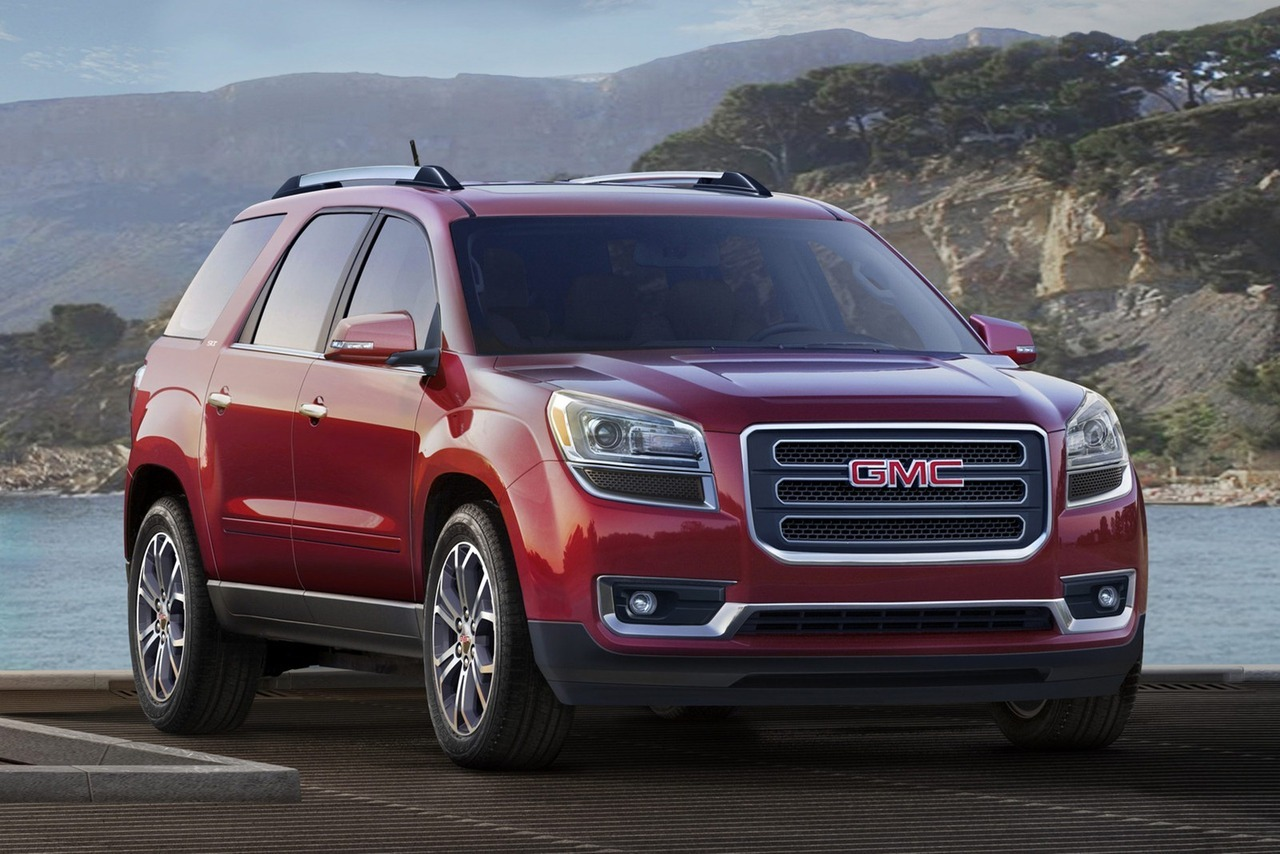 2013 GMC Acadia  GMC is ready to launch the three-row crossover onto the U.S. market and has announced pricing with the 2013 Acadia starting at $34,875 and the Denali at $46,770, with both prices including a destination charge of $825.   (vía Carscoop)