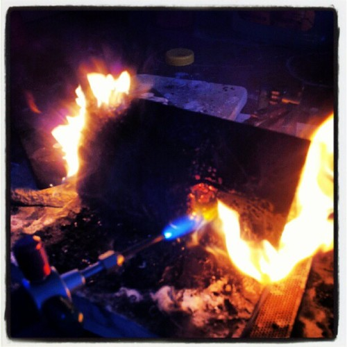 #Firefriday #torch #metalwork #handmadejewelry #makingthings  (Taken with Instagram)