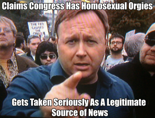 thegodofspaceandtime:  Let us not forget how alex jones earlier videos http://www.youtube.com/watch?v=wtSVBTne-KY We're watching the rise another L. Ron Hubbard, instead of going after your religious belief he goes after your political ideology through fear.