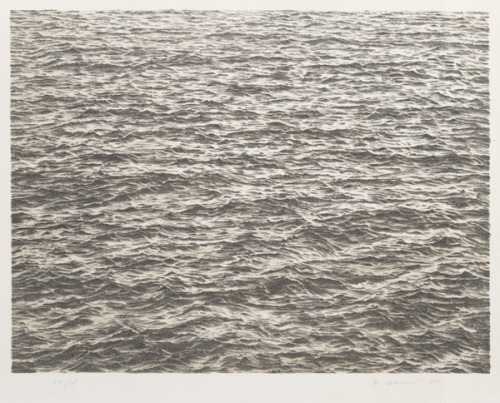 wiblog:  Vija Celmins, Untitled (Ocean), from the portfolio Untitled, 1975, 1975 via Tammy Fortin's most awesome collection rotation.