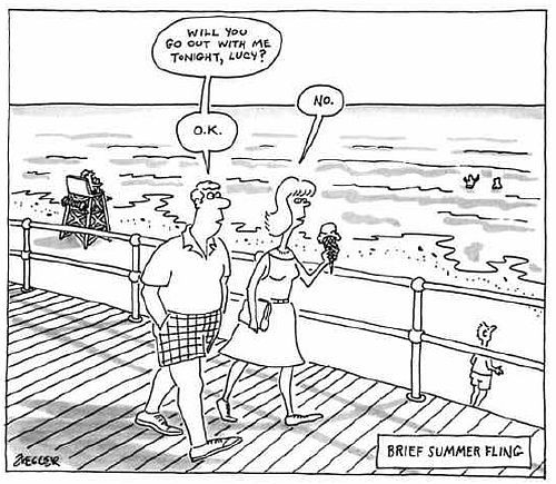Jack Ziegler - Brief Summer Fling / New Yorker, 1/8/1988