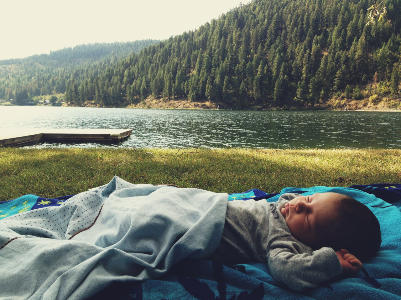 Samuel Hudson's first trip to the lake.