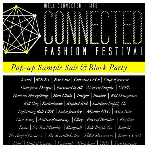 Connected Fashion Festival | Pop-up Sample Sale & Block Party | Saturday September 15th. Hope & 9th Street, DTLA. 11am-5pm (connectedfest.com) #connectedfest #fashionfestival #fashion #festival #popupsale #sale #blockparty #party #dtla #downtown #losangeles #instafashion #instasale #instagood #instamood #instahub #instagramhub #igdaily #instagramdaily #hashtagsfordays #tagsontagsontags  (Taken with Instagram)