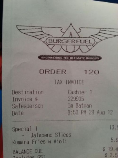 geekysnowwhite:  A) This receipt is awesome B) I miss BurgerFuel SO much.