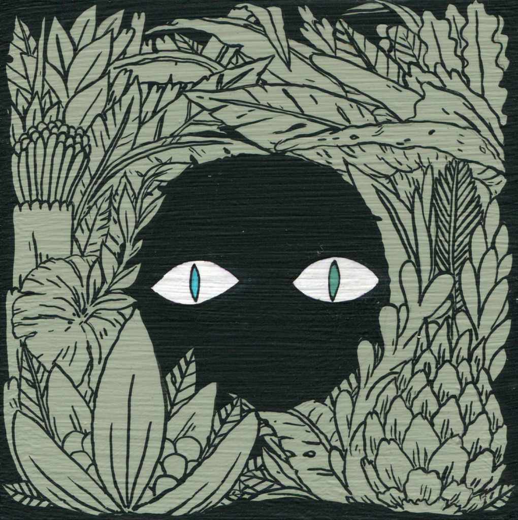 dethpsun:  Eyes in Foliage