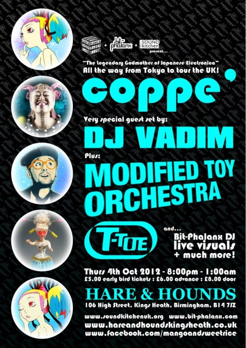 Coppe', MTO and DJ Vadim at Hare and Hounds, Birmingham on October 4th. Tickets here.