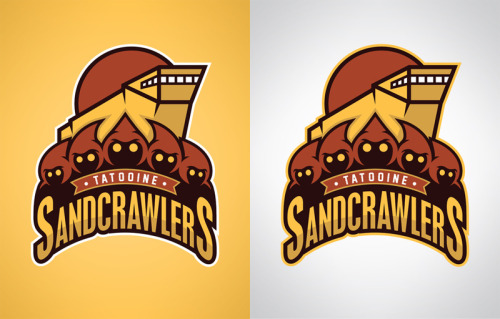 Tatooine SandCrawlers Another logo for the Star Wars sports logo collection. You can pick them up as prints, t-shirts, and various phone and laptop accessories at Society6… www.society6.com/wanderingbert Use this link by Sunday to get free shipping on any of my products! http://society6.com/wanderingbert?promo=c9d757