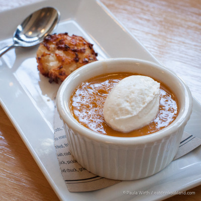 Butterscotch Pudding with Coconut Macaroon at Hopscotch, 1915 San Pablo Ave, Oakland, CA. (more photos)