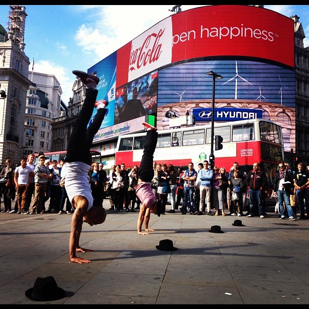 Dancers #london #londoners #sexiest #hot #weather #awesome #dancing #freestyle #stepup4 (Taken with Instagram at Piccadilly Circus)