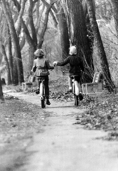 Biking in Minneapolis, 1956  Photo: Bill Ray